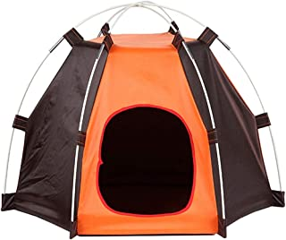 SUNNYBLUE Pet House Detachable Portable Waterproof Dog Tent and Outdoor Portable Pet Hexagon Kennel Tent with Extra Strong Stick, Crate for Small Medium Dog Outdoor Activities