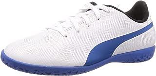 Puma Unisex Rapido IT Jr White-Royal Blue-Light Gray Football Shoe-6 UK (37 EU) (7 Kids US) (10481007)