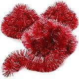 com-four® 3X Guirlande de Noël - Guirlande de Sapin pour Une décoration de Noël Parfaite - Décoration de Noël pour Le Sapin de Noël - 270 cm