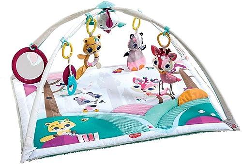 Tiny Love Gymini Deluxe Gimnasio de actividade, Manta musical de juegos para bebés con 18 actividades para el desarro...