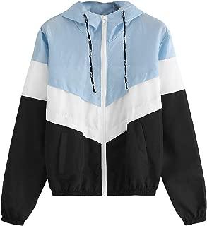 hooded color block jacket