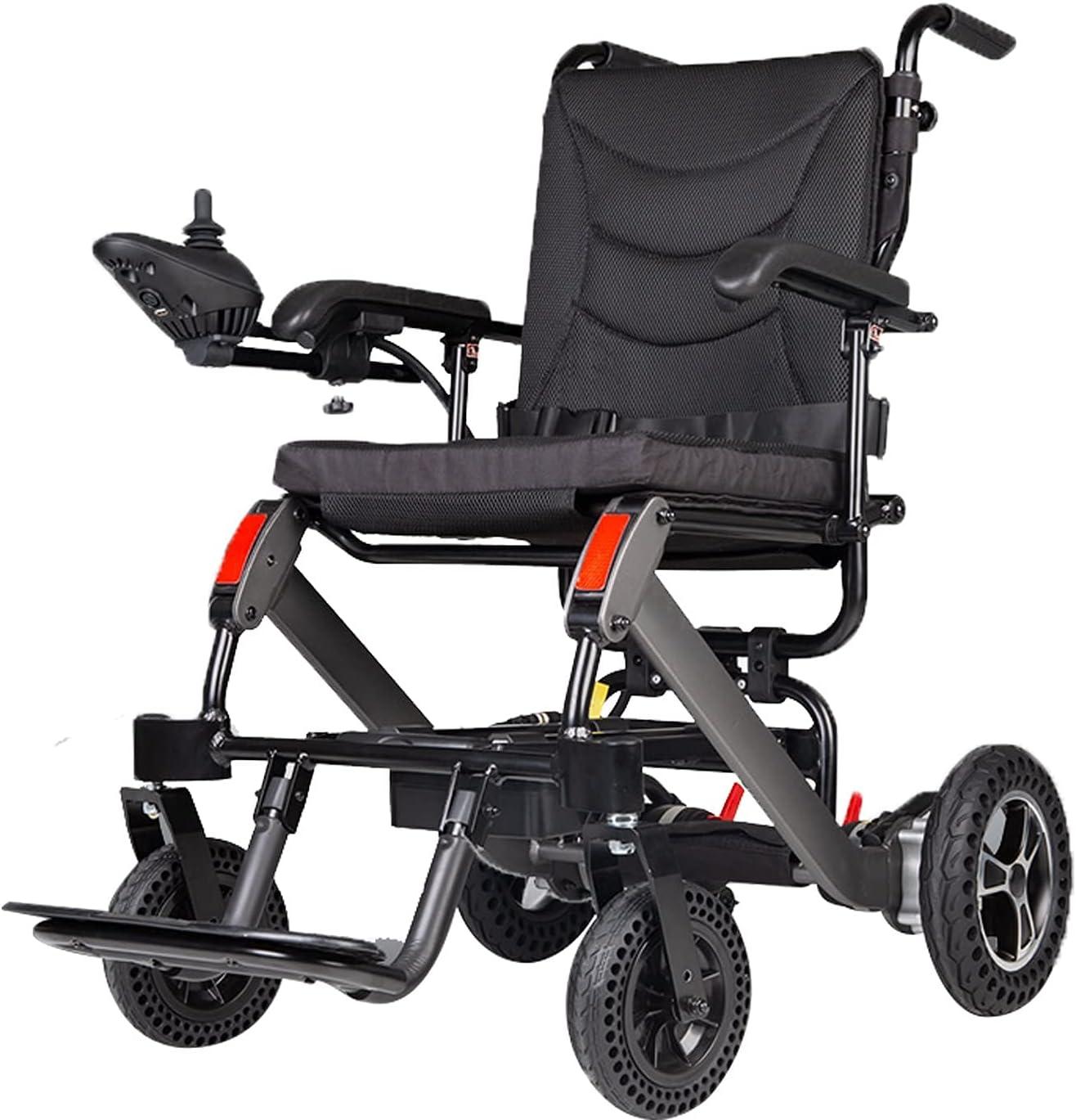 Scooter portátil para Silla de Ruedas eléctrica para Personas Mayores, Puede subirse al avión Marco de aleación de Aluminio sólido Peso Neto 25KG 180 * 2W Bater