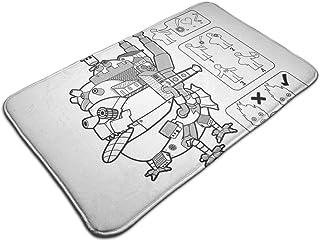 HUTTGIGH Studio Ghibli IKEA Howls - Felpudo antideslizante para puerta de entrada de baño, cocina, alfombra de 19,5 x 31,5...