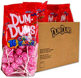 Dum Dums Hot Pink Watermelon 4-75 count bags