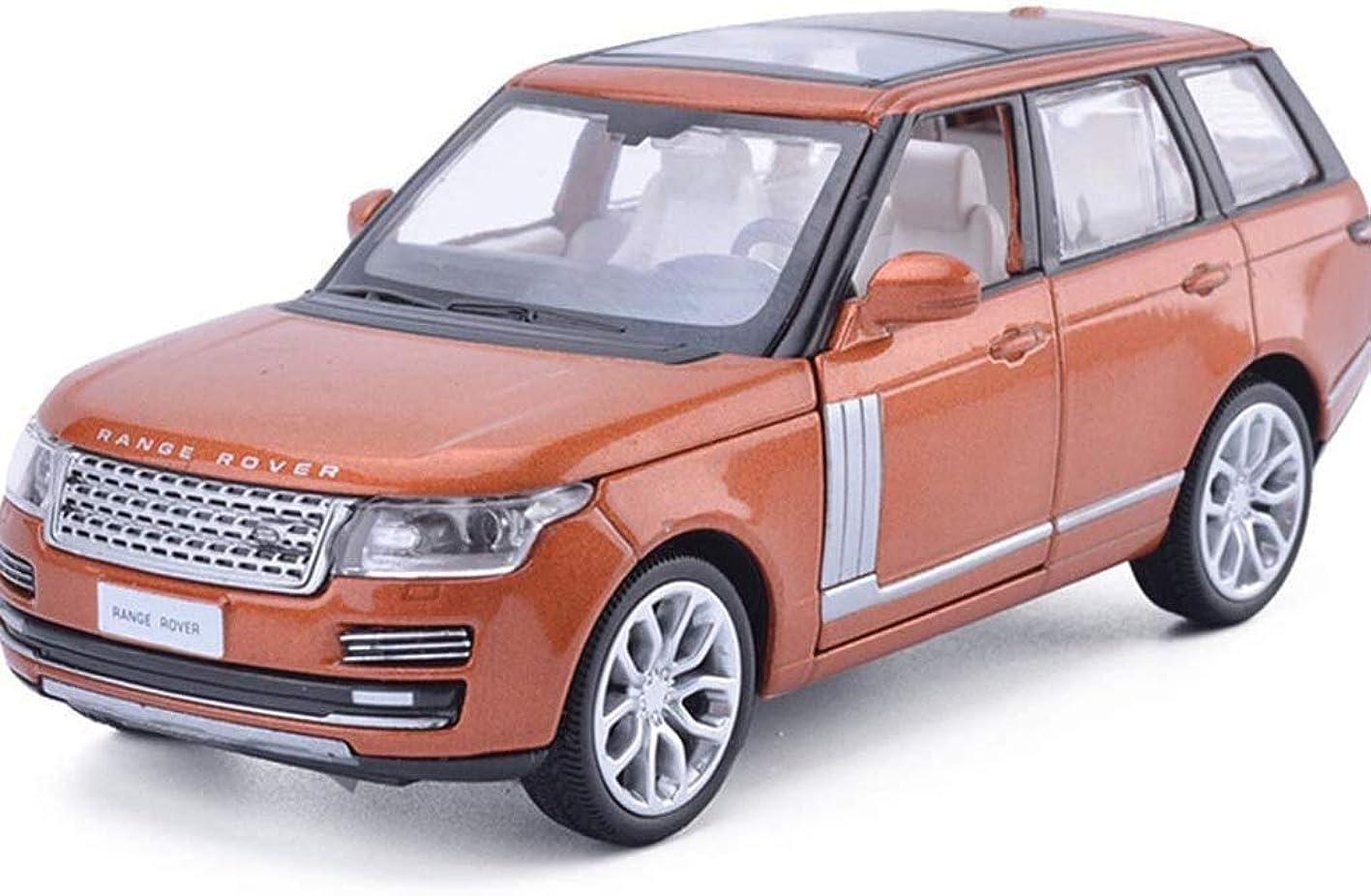 面積自分の力ですべてをする大型トラックIAIZI モデルカーカーモデルのシミュレーションのおもちゃの車1/32音と光の扉を開き、クロスカントリーカーモデル - オレンジ/カーキモデルボーイズギフトを送るために、