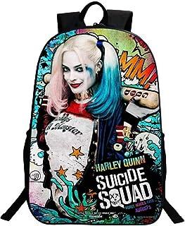Imcneal Suicide Squad Harley Quinn Mochila para niños y niñas, mochila escolar, bolsa de viaje, mochilas de hombro