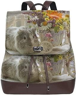 DUKLP Guinea Pigs Bouquets Wicker Basket Microfiber Leather Shoulder Bag Ladies Elegant Ladies Travel Shoulder Bag