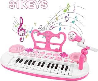 BAOLI 31 Keys Electronic Keyboard Piano Toy with Microphone