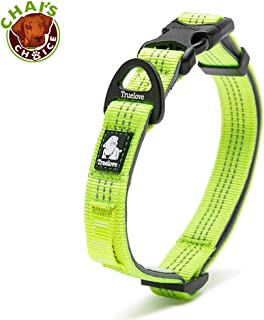 Chai's Choice Best Outdoor Adventure II Pet/Dog Collar Model! 3M Reflective with Aluminum Leash Attachment. Matching Harness and Leash Available! Sizing Chart at Left