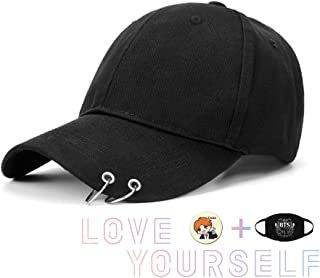 BTS Kpop Wings Tour Cap Snapback Baseball Jimin with Iron Rings Hats Love  Yourself Album Outdoor dd382d7f345b