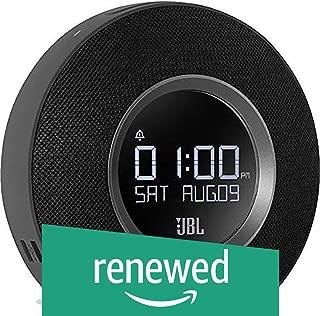 (Renewed) JBL Horizon Bluetooth Clock Radio with USB Charging and Ambient Light Speaker-Black