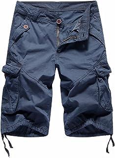 014e0609f2 TieNew Pantalones Cortos Cargo para Hombre, Hombre Largos de Manga Larga de  Algodón para de