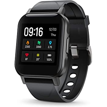 """SoundPEATS Smart Watch Fitness Tracker with All Day Heart Rate Monitor Sleep Quality Tracker IP68 Waterproof 1.4"""" Large Touch Screen Call & Message Reminder 12 Sports Modes for iPhone Android Phones"""