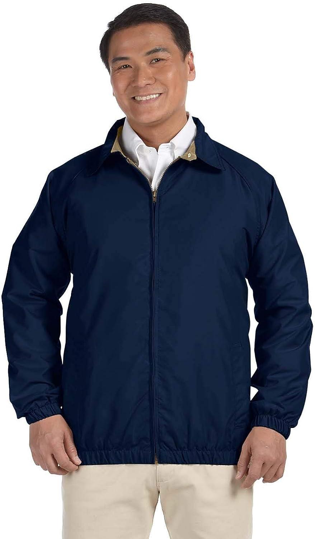 Harriton Men's Water-Resistant Microfiber Club Jacket