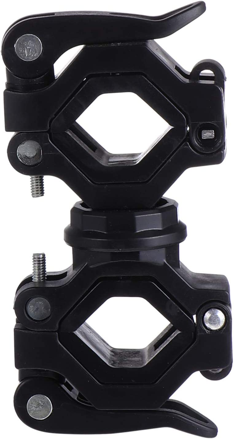 Black BESPORTBLE 1 Set Bike Flashlight Mount Holder Universal Bicycle Front Bar Led Light Holder 360/° Rotation Torch Clip Clamp for Cycling Bicycle