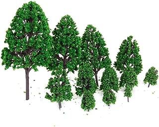 Fellibay Model Trees Miniature Artificial Diorama Models Architecture Landscape Scenery Decor Moss Bonsai Micro Landscape DIY Craft Garden Ornament Christmas Tree (24 pcs)