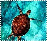 Panno in microfibra tartaruga–Occhiali pulizia panno in microfibra 15x 17,5cm panno per la pulizia di schermi, lenti, ecc.