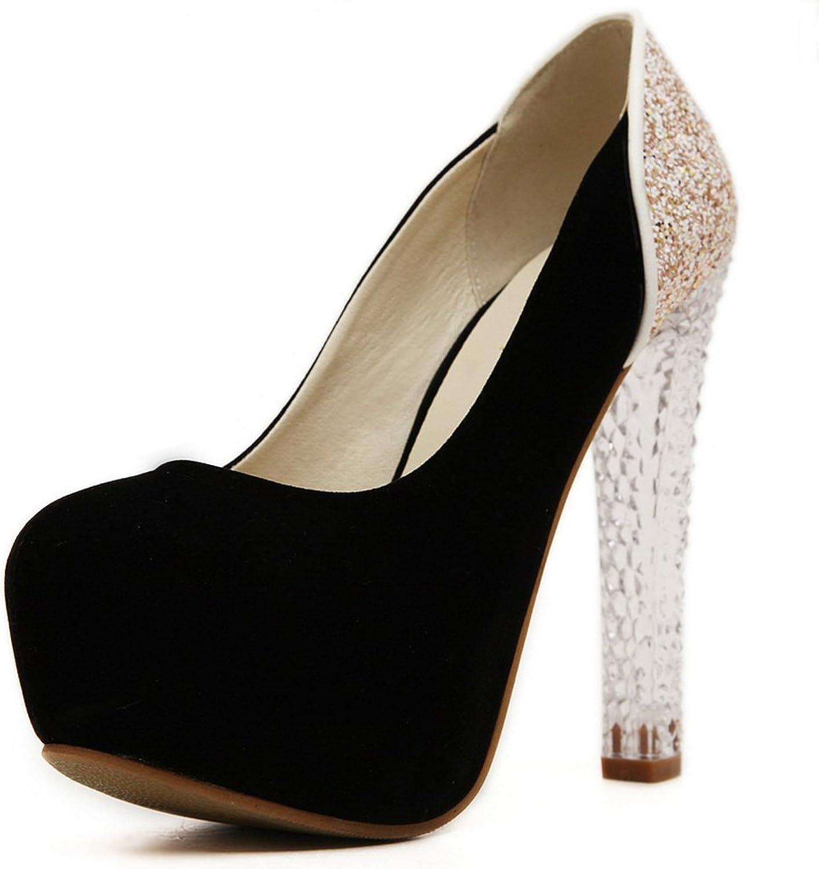 AdeeSu Womens Round-Toe Bridal Urethane Pumps shoes