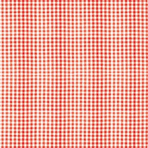 Tischdecke kariert rot | Mitteldecke | Premium Airlaid (stoffähnlich) | 15 Stück | 80 x 80 cm | hochwertige Tischdeko für Hochzeit, Geburtstag, Kommunion, Feiern | made in Germany