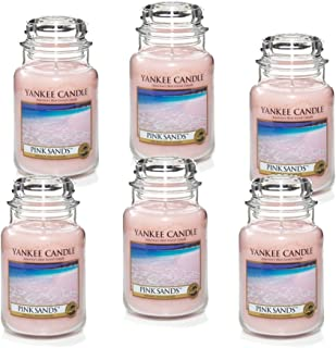 Yankee Candle Company 1205337X6 Pink Sands Jar Candle, Large, 22-Ounce , Set of 6