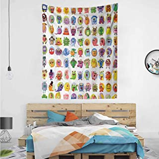 HouseLook Baby Mosters Cartoon Wall Art Decor Tapestry 54
