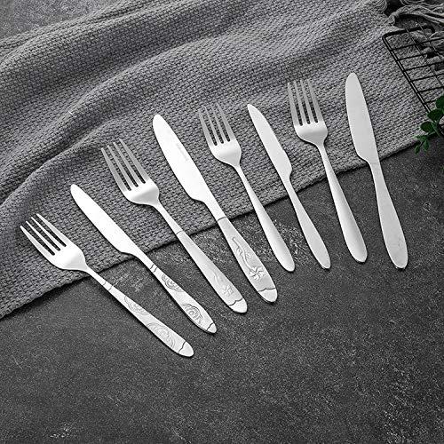 Juego de vajilla de acero inoxidable de estilo occidental de Hotel Western Cubertería para carne, aperitivos, frutas, tenedor cuchillo