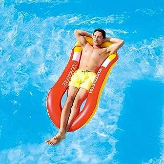 【2019最新改良】 浮き輪 sisters 大人用 浮き輪ベッド 超軽量 耐荷重200kg 夏休み 暑さ対策 水遊びに大活躍 です (赤)