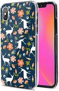 Huawei P40 Pro 5G ケース カバー スマホケース ハード TPU 素材 おしゃれ かわいい 耐衝撃 花柄 人気 全機種対応 花と鹿 ファッション アニマル フラワー 9791350