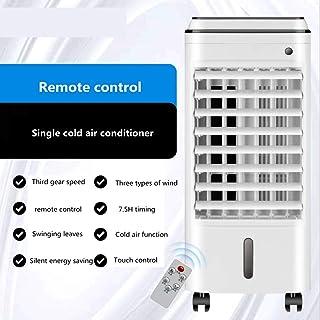 JJKT Modo Durmiente Oscilante Aire Acondicionado De Agua, Control Remoto 3 Archivos Acondicionador De Aire Móvil Enfriador De Aire para Habitación Dormitorio-a 25x26x60cm(10x10x24inch)