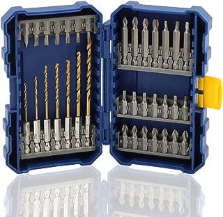 COMOWARE Screwdriver Bit Set with Titanium Drill Bits - Quick Release Bit Holder with Tough Case, Total 35pcs