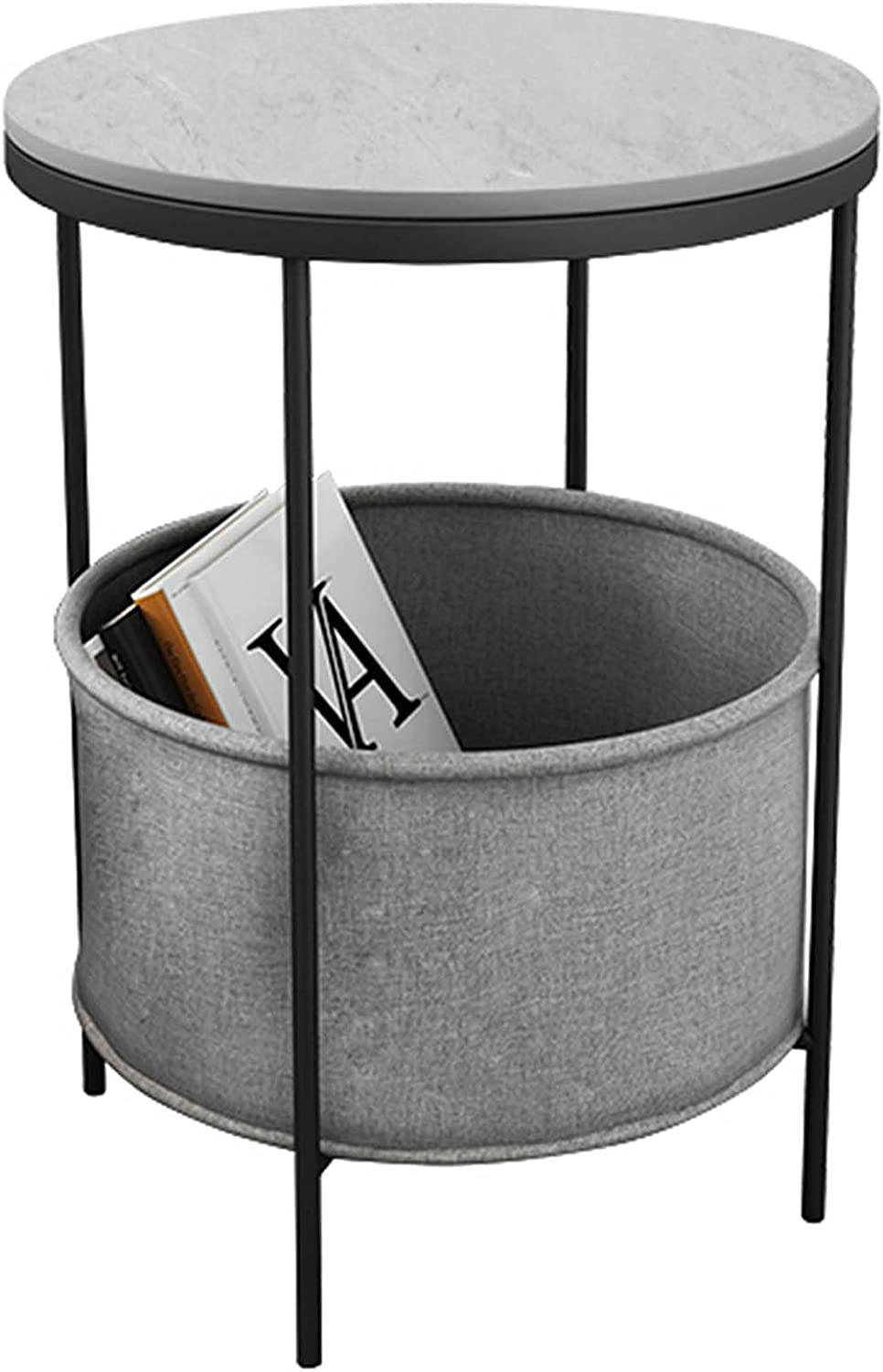 WUDAXIAN Modern Double Layer Round Coffee with Table San Jose Mall Black Metal Ranking TOP12