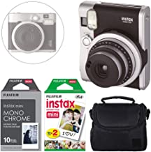 FUJIFILM INSTAX Mini 90 Neo Classic Instant Camera (Black) + Fujifilm Instax Instant Film (20 Exposures) & Instax Mini Monochrome Film (10 Exposures) + Camera Case – Deluxe Accessory Bundle