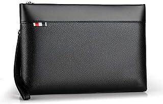 c65ea25e2ac Bolso de mano de cuero para hombres Bolso grande de mano Bolso de  almacenamiento de bolsos