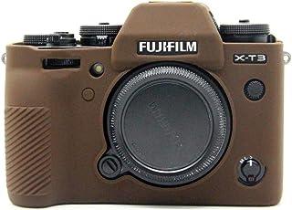 Fujifilm Fuji 富士 X-T3 X T3 カメラカバー シリコンケース シリコンカバー カメラケース 撮影ケース ライナーケース カメラホルダー、Koowl製作、外観が上品で、超薄型、品質に優れており、耐震・耐衝撃・耐磨耗性が高い (コーヒー色)