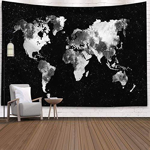 WERT Mapa del Mundo 3D geométrico Tapiz Colgante de Pared Toalla de Playa decoración del hogar Tapiz de Tela de Fondo A6 130x150cm