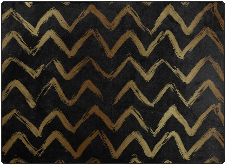 FAJRO gold Wave Rugs for entryway Doormat Area Rug Multipattern Door Mat shoes Scraper Home Dec Anti-Slip Indoor Outdoor