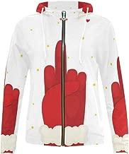InterestPrint Unique Design Women's Zipper Hoodies Sweatshirt
