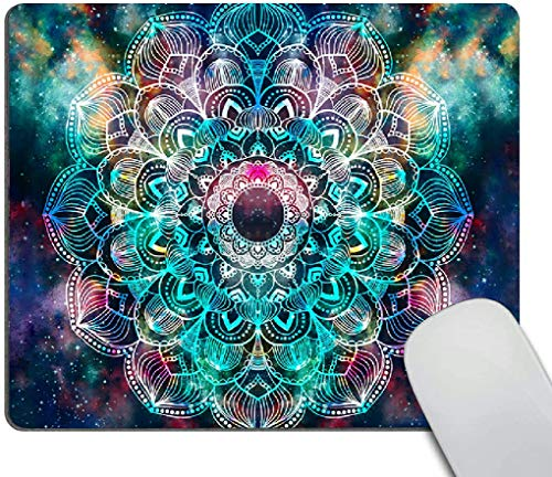 Mouse pad,Galaxy Mandala Pattern Waterproof Anime Gaming Gift Mouse Pad Desk Accessories Non-Slip Rubber Mousepad for Laptop Wireless Mouse
