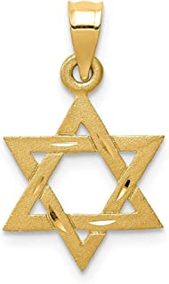 14k Yellow Gold Solid Jewish Jewelry Star Of David Pendant Charm Necklace Religious Judaica Fine Jewelry Gifts For Women For Her