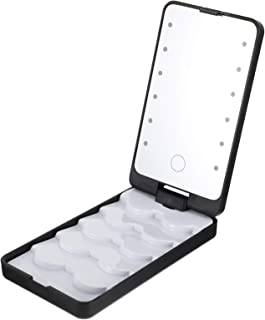 FRCOLOR Wimper Case Organizer Wimper Dozen Met Led- Verlichting Cosmetische Wimper Storage Case Met Spiegel Valse Wimpers ...