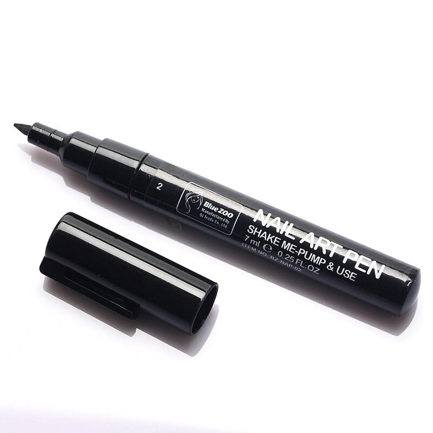 底助けになる勧める(メイクアップエーシーシー) MakeupAcc カラーネイルアートペン 3Dネイルペン ネイルアートペン ネイルマニキュア液 ペイントペン ペイント 両用 DIY 16色 (黒い) [並行輸入品]