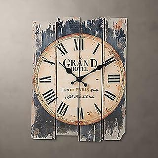 かけ時計 壁掛け時計木製インテリアリビングルームのベッドルーム壁掛け時計/時計 Z.L.F.J.P