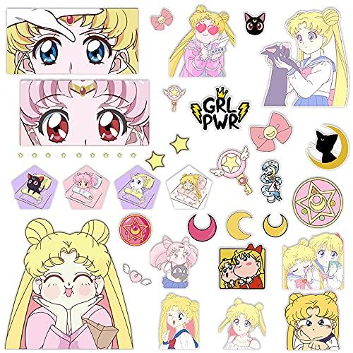 YZFCL Sailor Moon - Adhesivo impermeable para maleta con diseño de casco