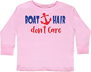 inktastic Boat Hair Don't Care, Anchor, Sailing - Toddler Long Sleeve T-Shirt