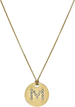 Roberto Coin Tiny Treasures 18K Yellow Gold Initial M Pendant Necklace