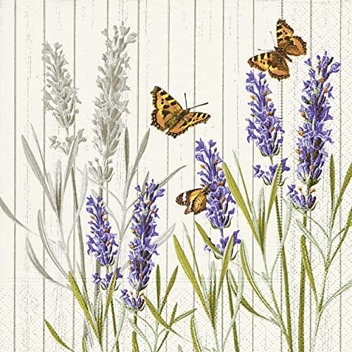 Preisvergleich Produktbild 20 Servietten Schmetterling Wiesenblumen Sommer Garten