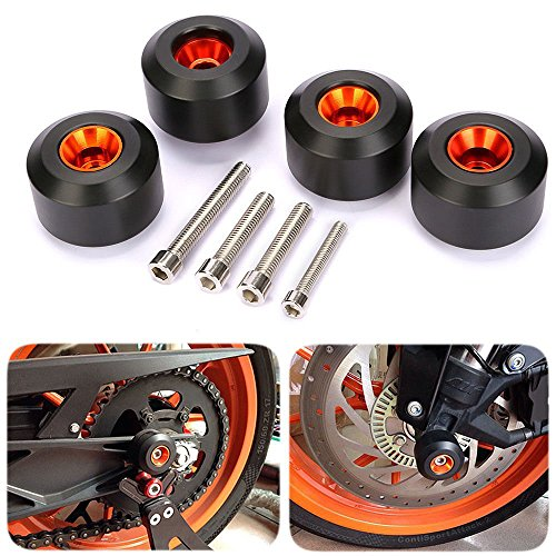 CICMOD Motorcycle Front & Rear Fork Wheel Frame Slider Crash Protector for KTM 125 200 390 Duke K