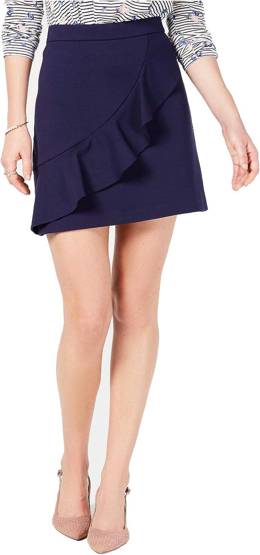 Maison Jules Womens Ruffled Mini Skirt