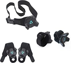AMVR VR Tracker Straps,Adjustable Waist Belt and Wrist Hand & Palm Straps Full Body Tracking VR Bundle for HTC Vive System Trackers Motion Capture (1 Tracker Belt + 2 Wristband + 2 Palm Straps)