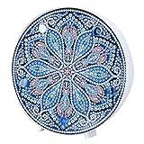 Kit de pintura de diamante Mandala con luces de noche LED Lámpara de mesita de noche de pintura de diamante DIY para decoración de vacaciones(ZXD021)